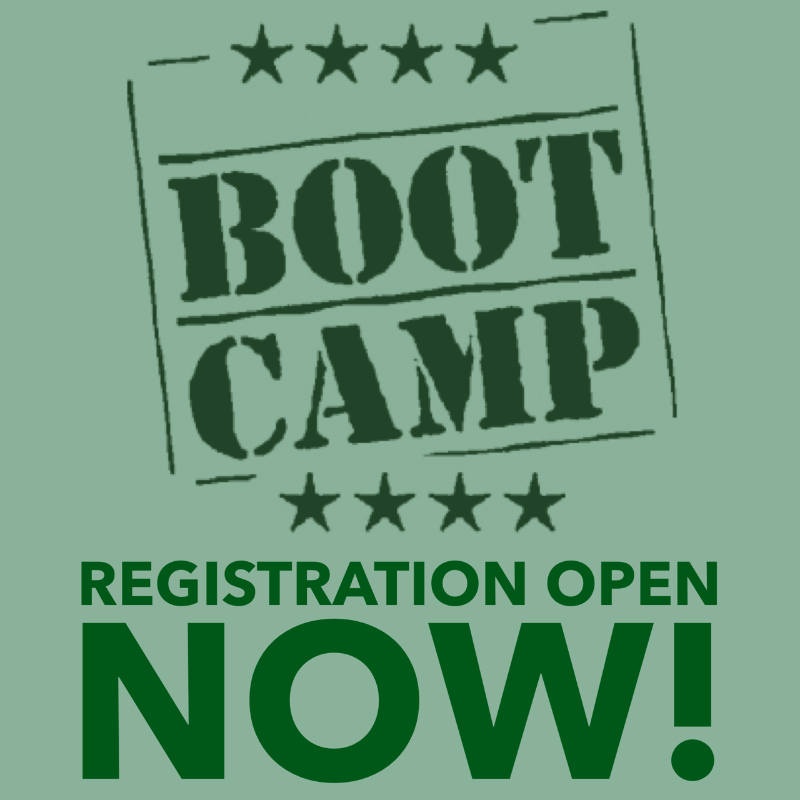 Registration is Open for Biggest Boot Camp Ever: May 17-19