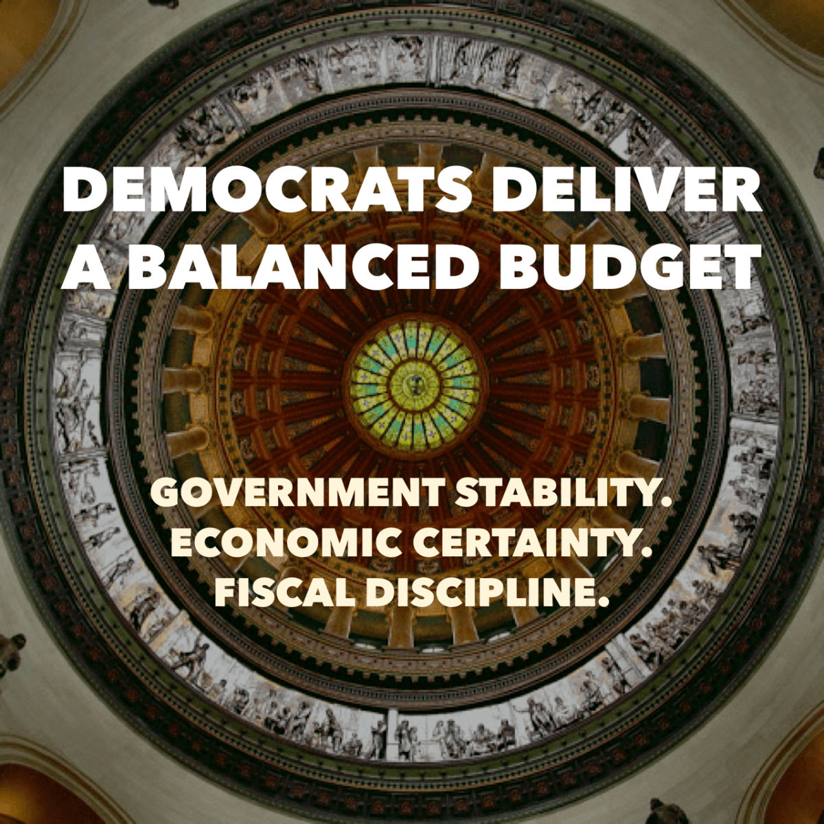 DEMOCRATS CRAFT A DISCIPLINED BALANCED BUDGET