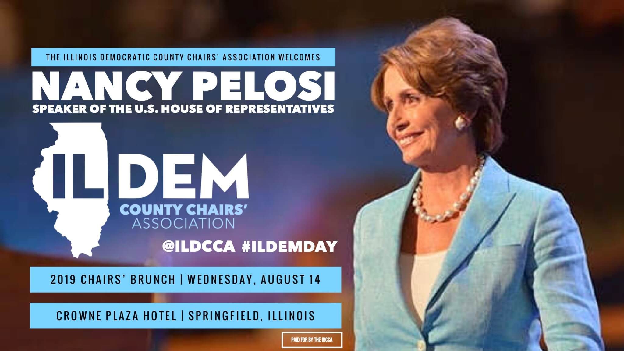 IDCCA Announces Special Guest U.S. House Speaker Nancy Pelosi For 2019 Chairs' Brunch