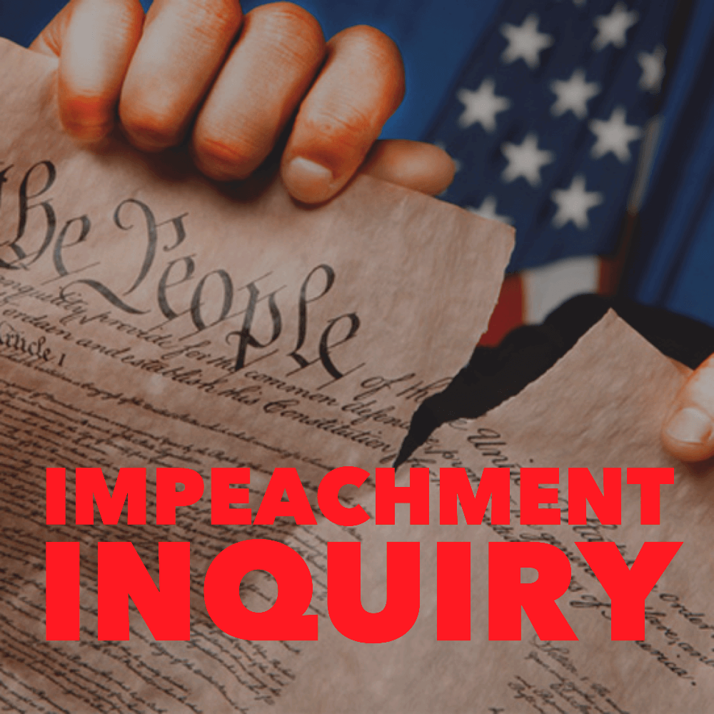 IMPEACHMENT IS SERIOUS BUSINESS. STAND UP TO TRUMP.