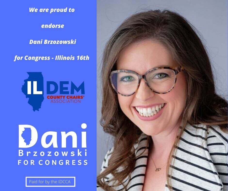 DEM COUNTY CHAIRS' VOTE TO ENDORSE DANI BRZOZOWSKI FOR CONGRESS