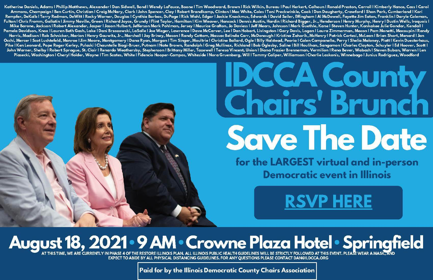 IDCCA to host hybrid in-person County Chairs' Brunch